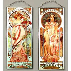 Champagne - White star, Imperial, Stained glass