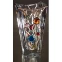 Vase.Massive glass,handmade glass vase