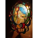 Alphonse Mucha, Princess Hyacinth. Stained Glass Window Panel. Original hand-made by Sekyt Art Studio.