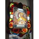 Alphonse Mucha,Zodiac . Stained glass window panel. Original hand-painted by Sekyt Art Studio