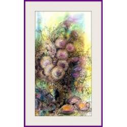 Kytice - Originální malba 75 x 48 cm