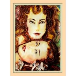 Dívky - Originální tisk 18 x 30 cm