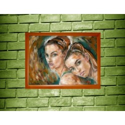 "Girls - Original Oil Painting 28"" x 16"" inches"