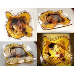 Irises- plate - glass, bright, hand-painted decorative plate