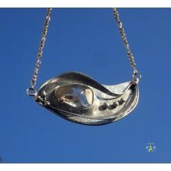 Clear Quartz Crystal, Original Sekyt Art Studio, Original piece of handcrafted jewelry