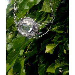 Necklace, Clear Quartz Crystal