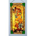 Gustav Klimt - The Embrace, Stained glass