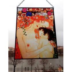 Gustav Klimt - matka a dítě, vitráže