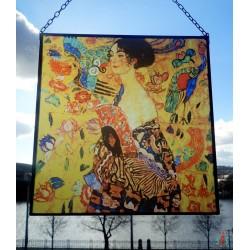 Gustav Klimt - dáma s vějířem