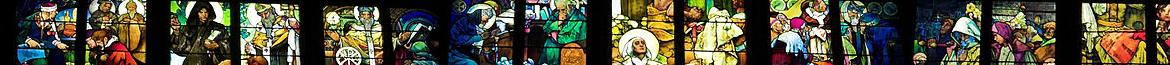 Alphonse Mucha Stained Glass (Saint Vit Cathedral in Prague)