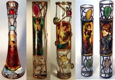 Alphonse Mucha Vase