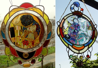 Gustav Klimt stained glass